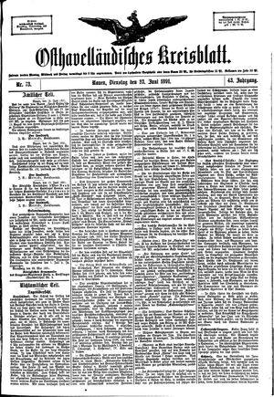 Osthavelländisches Kreisblatt vom 23.06.1891
