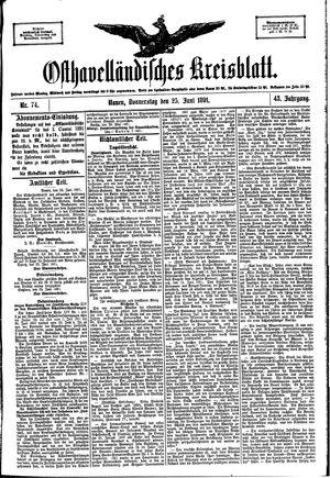 Osthavelländisches Kreisblatt vom 25.06.1891