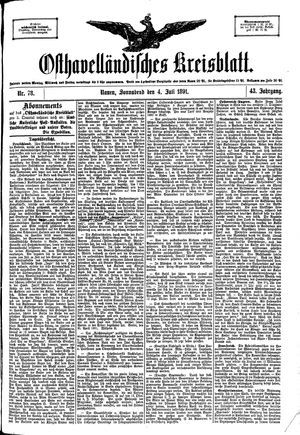 Osthavelländisches Kreisblatt vom 04.07.1891