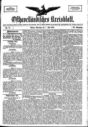 Osthavelländisches Kreisblatt vom 07.07.1891