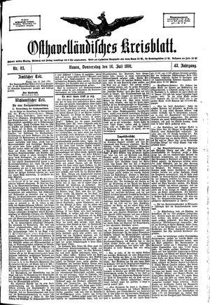 Osthavelländisches Kreisblatt vom 16.07.1891