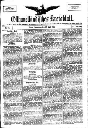 Osthavelländisches Kreisblatt vom 18.07.1891