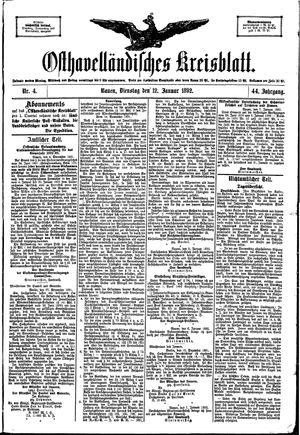 Osthavelländisches Kreisblatt vom 12.01.1892