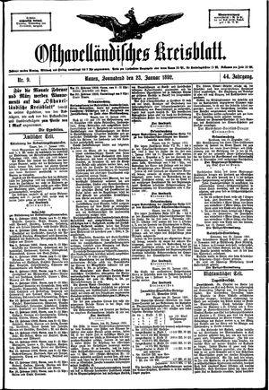 Osthavelländisches Kreisblatt on Jan 23, 1892