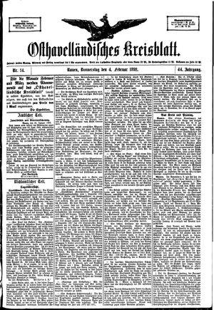 Osthavelländisches Kreisblatt vom 04.02.1892