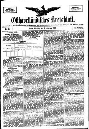 Osthavelländisches Kreisblatt vom 09.02.1892