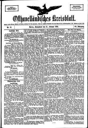 Osthavelländisches Kreisblatt vom 13.02.1892