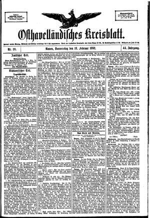 Osthavelländisches Kreisblatt vom 18.02.1892