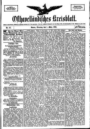 Osthavelländisches Kreisblatt vom 01.03.1892