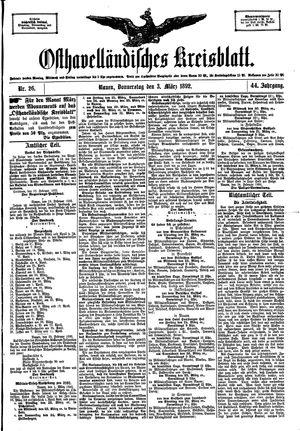 Osthavelländisches Kreisblatt vom 03.03.1892
