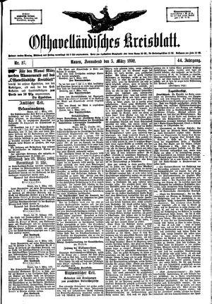 Osthavelländisches Kreisblatt vom 05.03.1892
