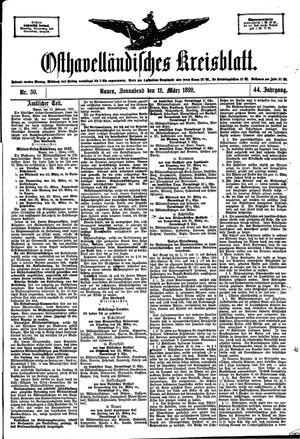 Osthavelländisches Kreisblatt vom 12.03.1892