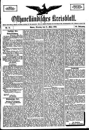 Osthavelländisches Kreisblatt vom 15.03.1892