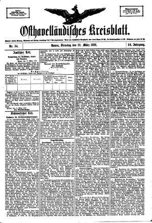 Osthavelländisches Kreisblatt vom 22.03.1892