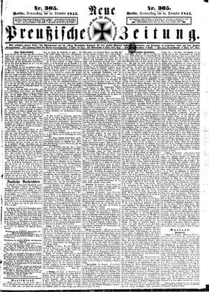 Neue preußische Zeitung vom 31.12.1857