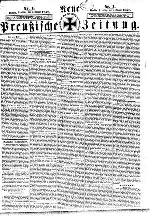 Neue preußische Zeitung on Jan 1, 1858