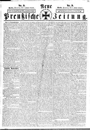 Neue preußische Zeitung on Jan 3, 1858