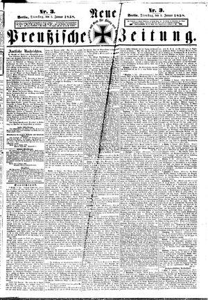 Neue preußische Zeitung vom 05.01.1858