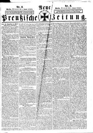 Neue preußische Zeitung vom 06.01.1858