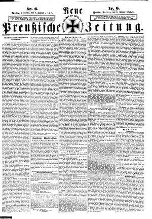 Neue preußische Zeitung vom 08.01.1858