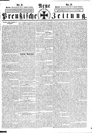 Neue preußische Zeitung vom 09.01.1858