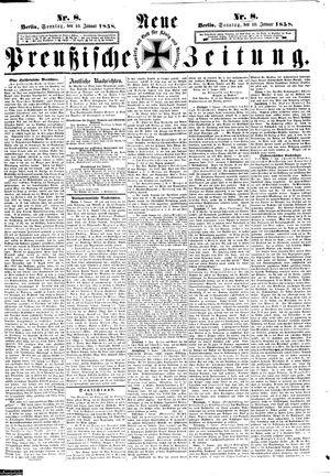 Neue preußische Zeitung vom 10.01.1858