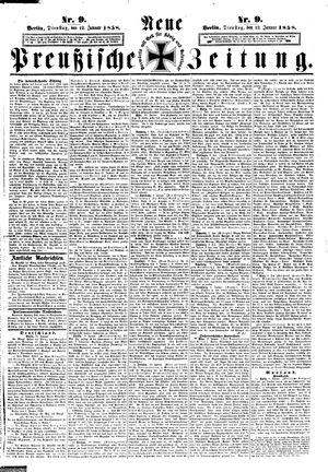 Neue preußische Zeitung vom 12.01.1858
