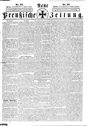 Neue preußische Zeitung vom 14.01.1858