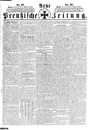 Neue preußische Zeitung vom 15.01.1858
