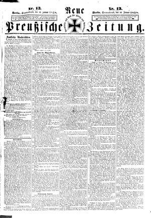 Neue preußische Zeitung vom 16.01.1858