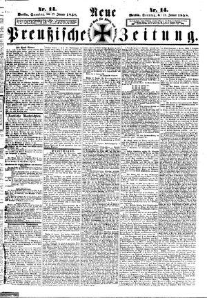Neue preußische Zeitung vom 17.01.1858