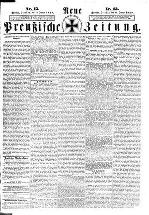 Neue preußische Zeitung vom 19.01.1858