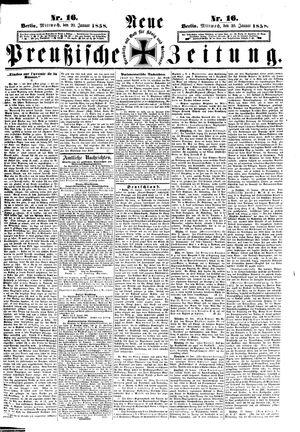 Neue preußische Zeitung vom 20.01.1858