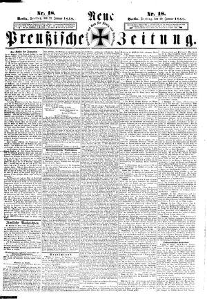 Neue preußische Zeitung vom 22.01.1858