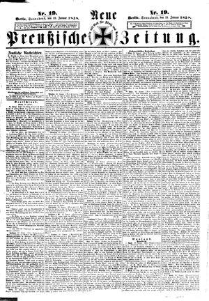 Neue preußische Zeitung on Jan 23, 1858