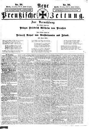 Neue preußische Zeitung vom 26.01.1858