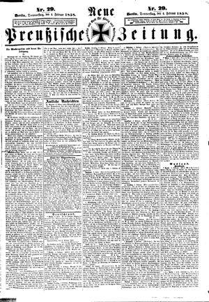 Neue preußische Zeitung vom 04.02.1858