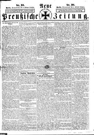 Neue preußische Zeitung vom 06.02.1858