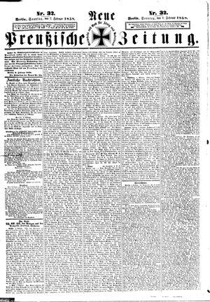 Neue preußische Zeitung vom 07.02.1858