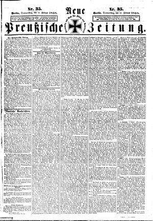 Neue preußische Zeitung vom 11.02.1858