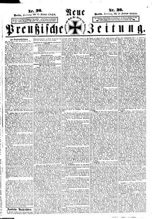 Neue preußische Zeitung vom 12.02.1858