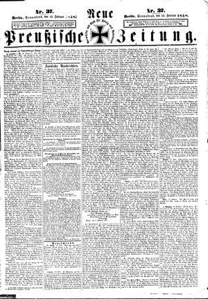 Neue preußische Zeitung vom 13.02.1858