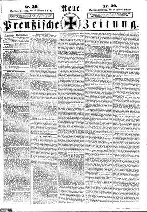 Neue preußische Zeitung vom 16.02.1858