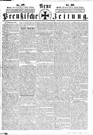 Neue preußische Zeitung vom 17.02.1858