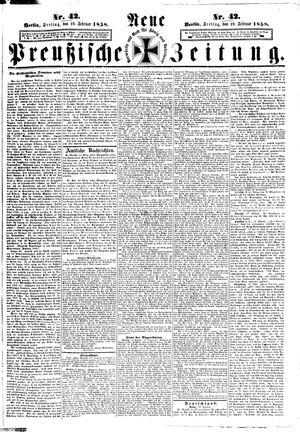 Neue preußische Zeitung vom 19.02.1858