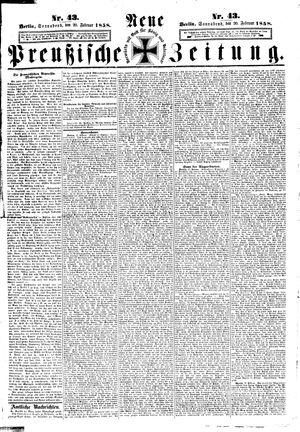 Neue preußische Zeitung vom 20.02.1858