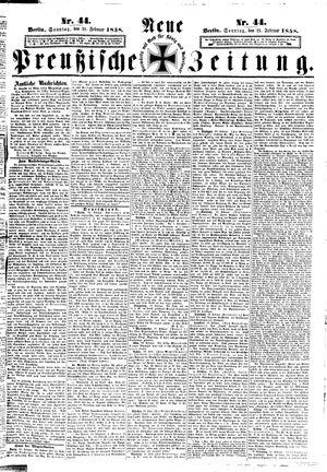Neue preußische Zeitung vom 21.02.1858