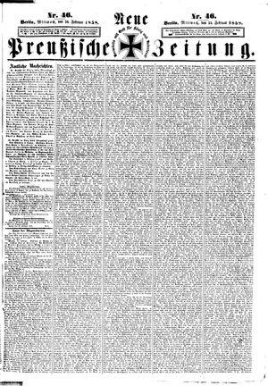 Neue preußische Zeitung vom 24.02.1858
