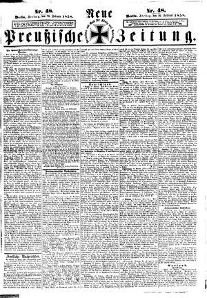 Neue preußische Zeitung on Feb 26, 1858