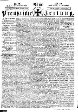 Neue preußische Zeitung vom 02.03.1858